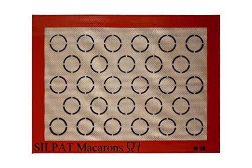 Silpat Macaron Backmatte (Demarle) für Macarons mit 35mm Ø, Maße:375 x 275 mm