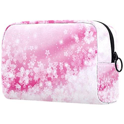 Sac cosmétique pour femme Motif fleurs de cerisier rose