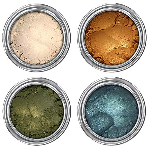 Concrete Minerals Eyeshadow, Longer-Lasting With No Creasing, 100% Vegan and Cruelty Free, Loose Mineral Powder, Handmade in USA (Forest Queen)