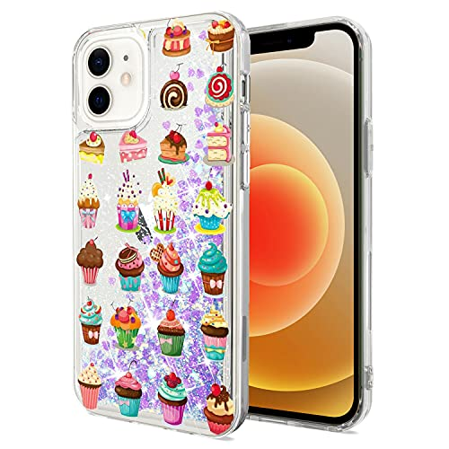Mixroom - Custodia Cover Case per iPhone 6 con Brillantini Glitter in Gel Liquidi Quicksand Lilla Fantasia Mix di DOLCETTI Codice 411