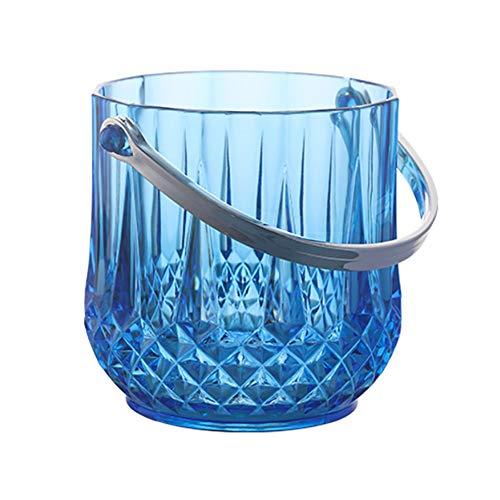 XM&LZ Un Tamaño Cubitera Enfriador De Vino,Creativo Acrilica Cubitera con Handle,Champán Cerveza Bebidas Enfriador De Vino,Enfriador De Enfriador para Bar Partido Azul 1.1l