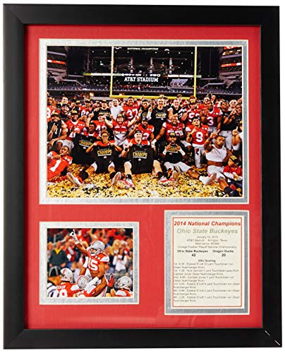 Ohio State Buckeyes NCAA Legends Collectible | Framed Photo Collage Wall Art Decor - 12