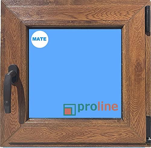ECO-BLU (V79M) Ventana PVC 500x500 color madera (Roble Dorado) Oscilobatiente Derecha Climalit Mate Carglass