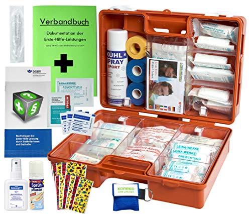 WM-Teamsport Sport-Sanitätskoffer PRO S2 Erste-Hilfe Koffer DIN 13157 & 13164 + Sport-Ausstattung mit Kältebehandlung + Sporttape inkl. SPRÜHPFLASTER