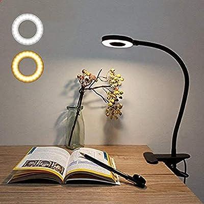 💡【Dos Modos de Iluminación】El modo de luz cálida está diseñado exactamente para leer y estudiar. ¡Encuentra la lámpara de mesa más adecuada para tu lectura nocturna. El otro modo es luz blanca fría diseñada para iluminar y brillar en la habitación. 💡...