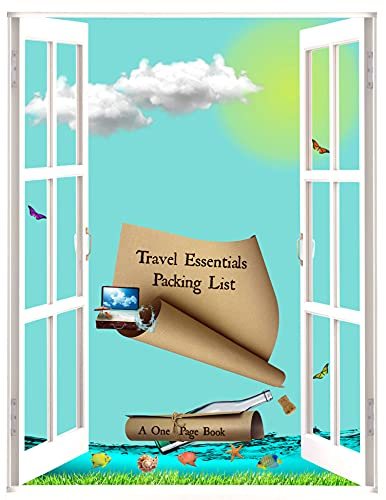 A One Page Book: Travel Essentials Packing List : International Solo Travel Carry-on Checked Luggage housekeeping, homemaking, lifestyle, luxury, DIY, ... minimalism, simple living (English Edition)
