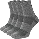 281Z Military Cotton Micro Crew Boot Socks - Cushioned Sole - Moisture Wicking - Odor Resistant - Hiking Trekking Outdoor (Dark Grey X-Small 4 Pairs)