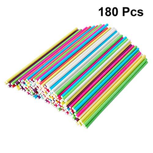 Read About Milisten Lollipop Sticks Paper Cake Pop Sticks Craft Rod for Buffet Treat Cookies Chocola...