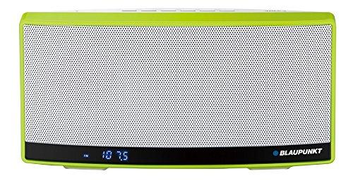 Blaupunkt BT10GR Tragbar Lautsprecher mit NFC/Radio/MP3-Player/micro SD 32GB/Akku 1300mAh/Powerbank (LCD-Display)