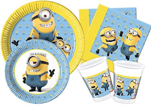 Ciao Y4486Kit Party Tisch Minions Lovely für 24Personen, hellblau/gelb