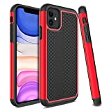 Venoro iPhone 11 Case, Slim Hybrid Dual Layer Anti Scratch Shockproof Rugged Phone Protection Case Cover for Apple iPhone 11 2019 6.1inch (Red)