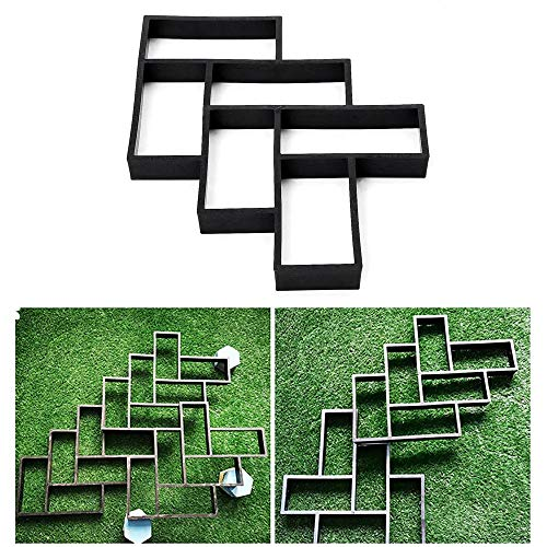 Sjabloon voor beton L bakstenen beton road paver maker tuin walk pavilement mold weg DIY pleister wit eenvoudig te bedienen en doe-het-zelf beste keuze