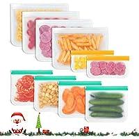 10-Pack Godmorn Leakproof BPA-Free Reusable Lunch Ziplock Bags