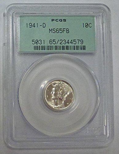 1941 D Mercury Dime MS65FB PCGS