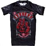 Hardcore Training Code of Honor Rash Guard Kids Camicia a Compressione Bambini BJJ MMA Boxeo Palestra Fitness No Gi