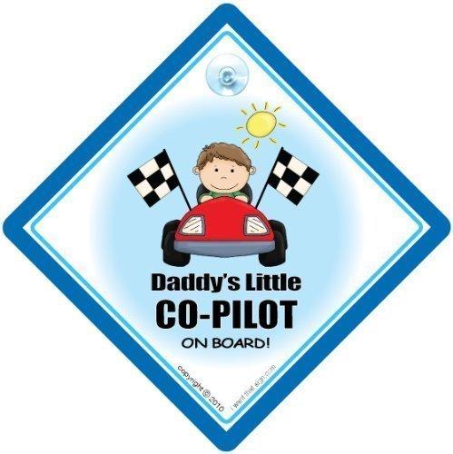 Daddy's Little co-pilote sur Board, Daddy's Co Pilot, panneau bébéà bord, bébéà bord, panneau de voiture, bébé Panneau, signe, Dad voiture signe pour voiture, pare-chocs Sticker Panneau, pilote, Coque, autocollant, Sticker