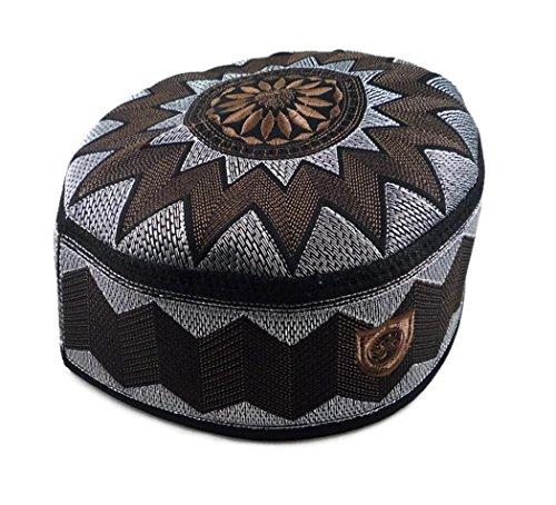 Price comparison product image Alwee ALW006 Muslim Prayer Headware Kufi Hat Men Islam Skull Cap Ramadan Eid Gift (23 inch (58.5 cm.)