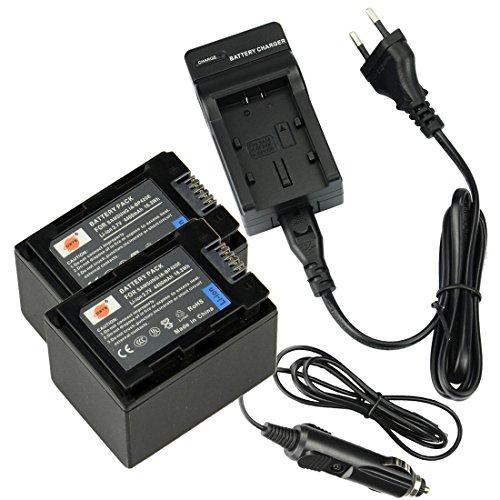 DSTE(2 Pack) Ersatz Batterie IA-BP420E + Reise Ladegerät Kompatibel für Samsung F50,S16,F44,F40,SMX-F50,SMX-F44,SMX-F40,HMX-H200,HMX-H204,HMX-H205,HMX-S10,HMX-H300,HMX-S15,HMX-S16,HMX-H305 Kamera