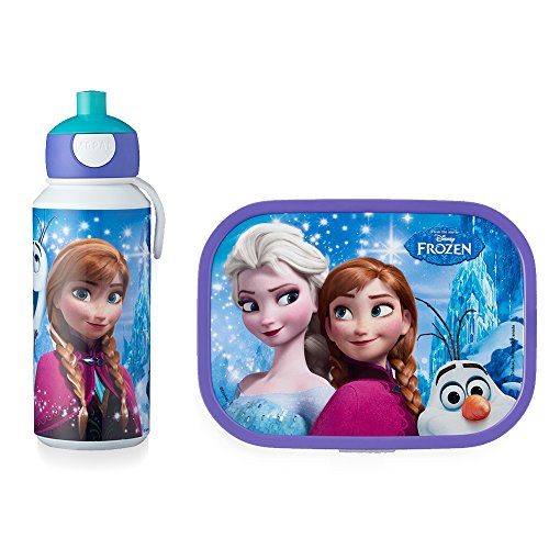 Mepal Pop-up Trinkflasche und Brotdose lunchset-Campus-pubd-Frozen-Sisters-Forever, abs, 0 mm