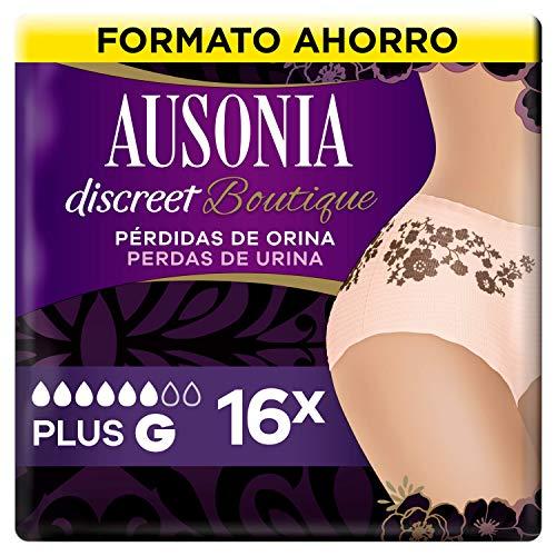 Ausonia Discreet Boutique Braguitas Para Pérdidas De Orina L Color Salmón, Bloquean El Olor y La Humedad Y Evitan Fugas x 16