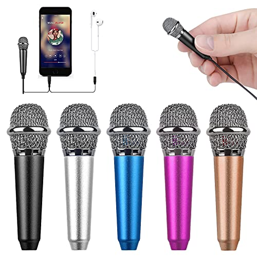 Uniwit Mini Portable Vocal/Instrument Microphone for Mobile Phone Laptop Notebook Apple iPhone Sumsung Android with Holder Clip - Golden