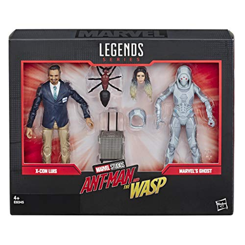 Marvel Legends Series Ant-Man and The Wasp 6-Inch-Scale Movie-Inspired x-Con Luis and Marvel's Ghost Collectible Action Figure 2-Pack