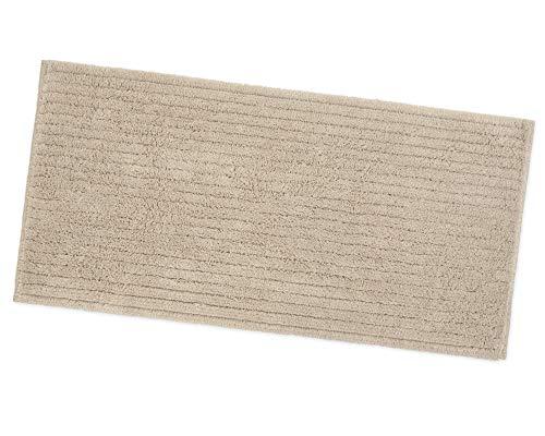 Alfombra baño dormitorio 100% puro algodón suave absorbente antideslizante elegante mod. Jane 53 x 100 beige