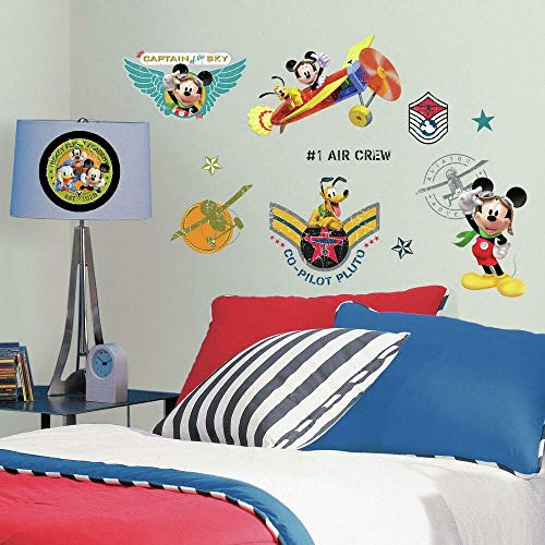 RoomMates Disney Mickeys Clubhouse Pilot Stickers muraux
