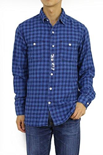(ポロラルフローレン)POLORalphLaurenメンズインディゴ藍染フランネル長袖シャツワークシャツ0103644[並行輸入品]