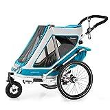 Qeridoo Speedkid 2 (2020) 2 uşaq üçün velosiped qoşqusu, uşaq treyleri - benzin