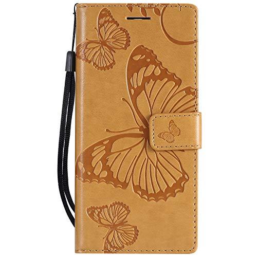 Hülle für Nokia 3.1 Hülle Handyhülle [Standfunktion] [Kartenfach] [Magnetverschluss] Tasche Flip Case Cover Etui Schutzhülle lederhülle klapphülle für Nokia3.1 - DEKT041923 Gelb
