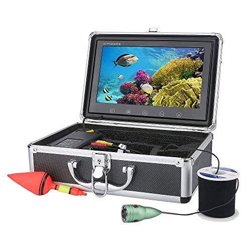 XINTONGSPP Buscador de Peces bajo el Agua, Monitor de Color HD 10 Pulgadas 1000tvl Kit de Video de Video de Pesca bajo el Agua, HD WiFi Wireless admite grabación de Video y Tome la Foto,30m