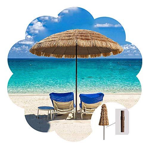 Aly Sonnenschirm Hawaii Ø 250cm Strandschirm Strohschirm Natur Natur - Terrassenschirm Gartenschirm Balkonschirm