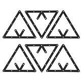 Demeras 6 Piezas Hoja de Billar triángulo Taco de Billar Mesa de Billar Bola de Papel Mesa de Billar Accesorio de Taco de Billar para Billar de Billar