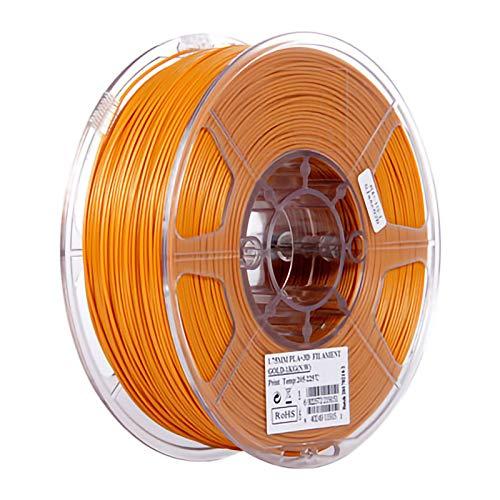 QDTD Filamento PLA Pluma Recargas 1,75 mm PrecisióN ± 0,02 100% Ninguna Burbuja De 1 kg 2,2 Libras Sin Olores Y FáCil De Pelar Filamento for La MayoríA De Impre(Color:Amarillo Oscuro)