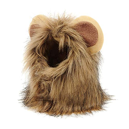 Peluca para mascotas, disfraz de gato, accesorios sintticos, accesorio para perros pequeos, para Halloween, Navidad, fiesta