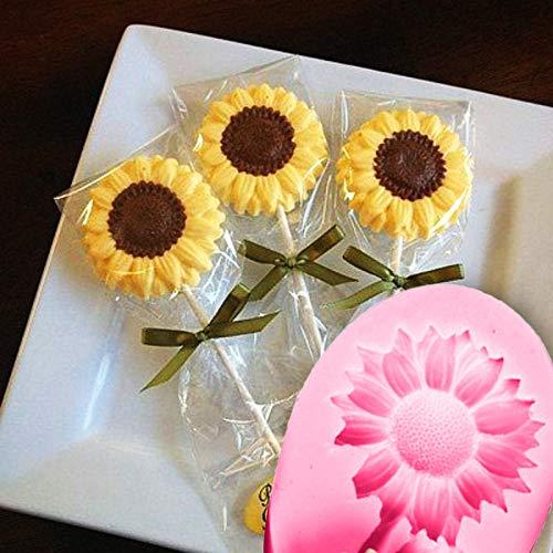 Moldeos de girasol Herramienta de decoración de moldes de silicona para niños adultos Fondant Candy