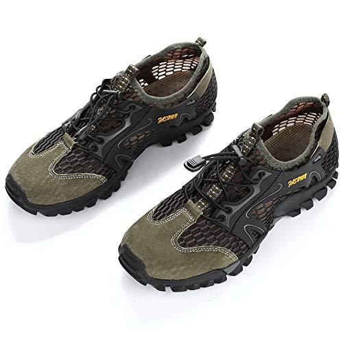 CXZC Zapatos de Agua para Hombres, Descalzos de Secado rápido, para bucear, Nadar, Surfear, acuático, Deportes, Piscina, Playa, Caminar, Yoga.