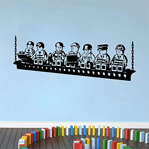 Vinyl Wall Sticker Decal Quote Home Decor Funny Cartoon Robots Boys Room Decor