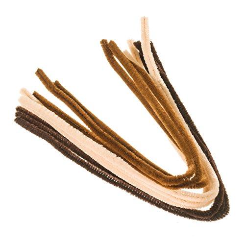 efco, scovolini Marrone Chiaro e Marrone Medio, per la Pulizia della Pipa, Assortiti, 8mm x 50cm, 9 Pezzi