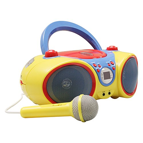 HamiltonBuhl HECKIDSCD30 Kids CD Player/Karaoke Machine with Microphone