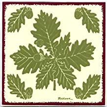 product image for TILES, WALL PLAQUES AND TRIVETS, HAND PAINTED WITH BOTANICAL THEMES - OAK with ACORNS # BB-2.