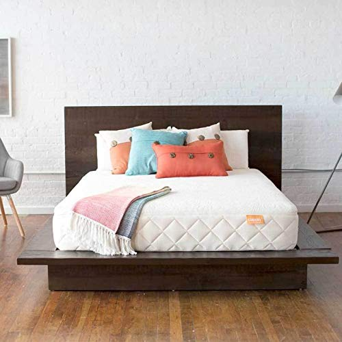 Happsy 100% Organic Mattress - Queen - Healthy Non-Toxic Sleep - Latex Over Coils - Mattress in a Box - Green Eco Bed