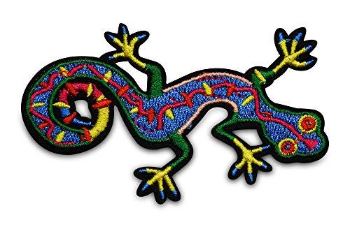 Finally Home Kleurrijke Gecko Strijkapplicatie patch om op te strijken | Dieren patches, opstrijkmotieven