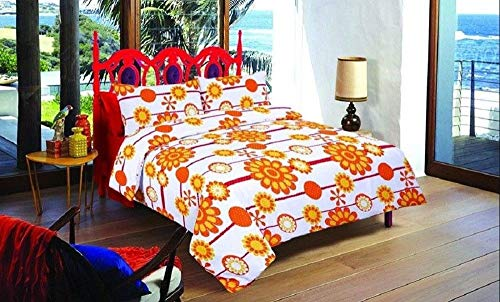 KOHSAR Sun Flowers Duvet Cover Double Bed Polycotton Quilt Covers Bedding Sets Matching Pillow Cases