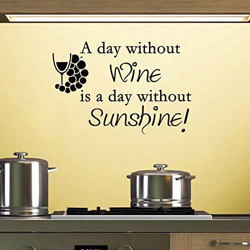 Cooldeerydm Geen dag wijn is een dag zonder zon, muursticker van vinyl