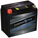 Chrome Battery YTX12-BS Rechargeable AGM Powersport Battery- Maintenance Free- Replaces ETX12-BS, PTX12-BS