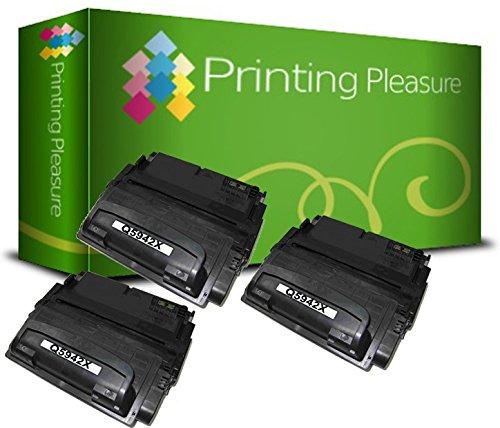 Printing Pleasure 2 Compatibles Q5942X 42X Cartuchos de tóner para HP Laserjet 4350 4350dtn 4350n 4350tn 4250 4250dtn 4250dtnsl 4250n 4250tn 4240 4240n - Negro, Alta Capacidad