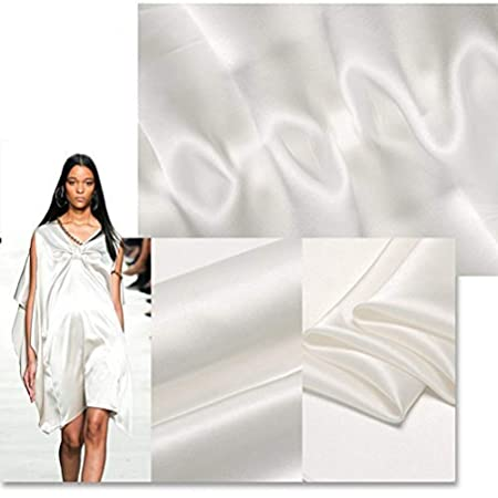 sell by the meter PFD white raw white chrismas gifts 100 pure silk off white 16mm silk satin fabric silk charmeuse for wedding dress