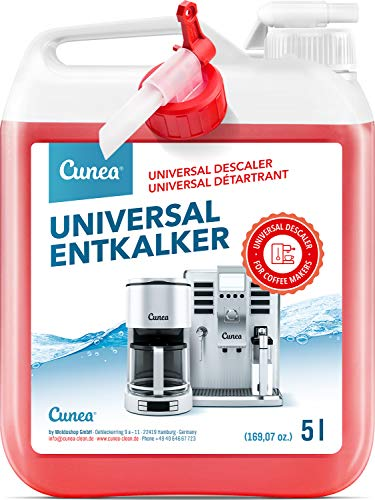 Entkalker für Kaffeevollautomat & Kaffeemaschine 5 Liter - Flüssigentkalker mit Farbindikator